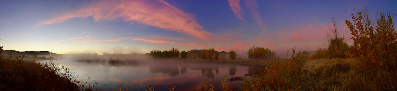 Sunrise along the Truckee River East of Reno, Nevada