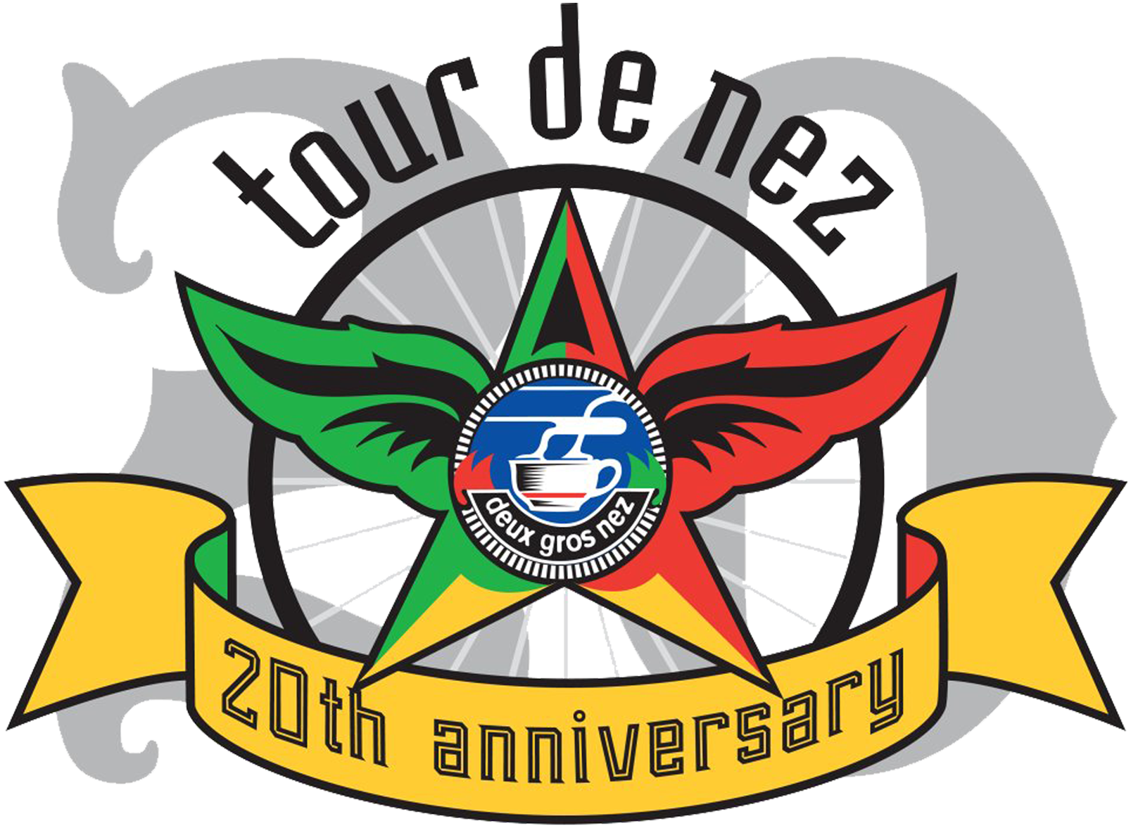 20th Anniversary Logo for the Tour de Nez. Created by Sheryl Chapman.